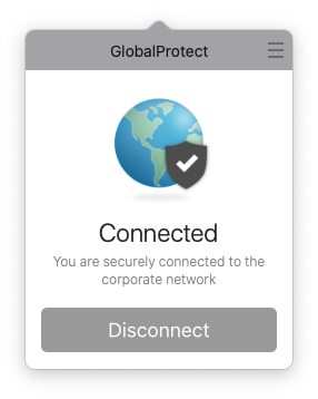 GlobalProtect will show successful connection