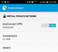 Turn AnyConnect VPN off and on