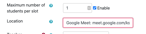"Add web conferencing link to the ""Locations"" field"