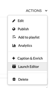 """Select """"Launch Editor"""" in the Actions menu"""