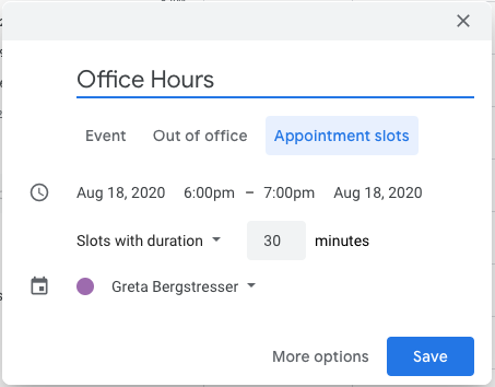 Select Appointment Slots