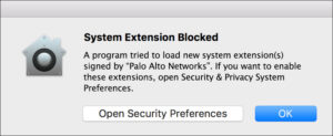 macOS System Extension Blocked Dialog