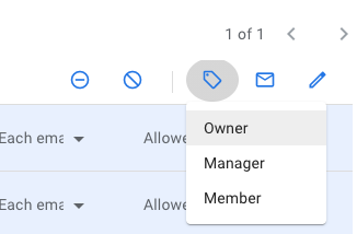 Click the Change Role icon to assign a new role to the selected member(s).